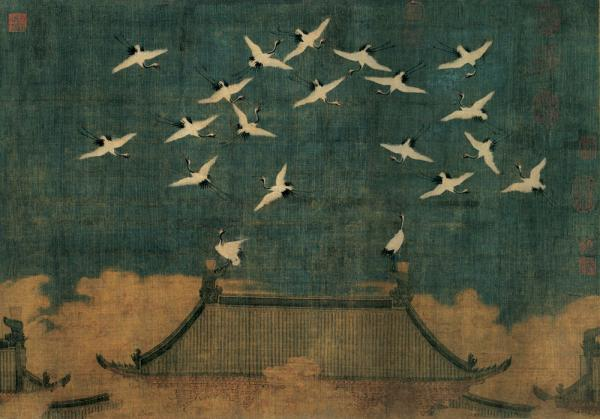 about 1112, LPossibly Emperor Huizong, Auspicious Cranes,iaoning Provincial Museum. © The Liaoning Provincial Museum Collection