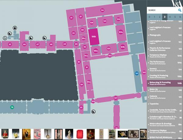 The V&A Digital Map | Victoria and Albert Museum
