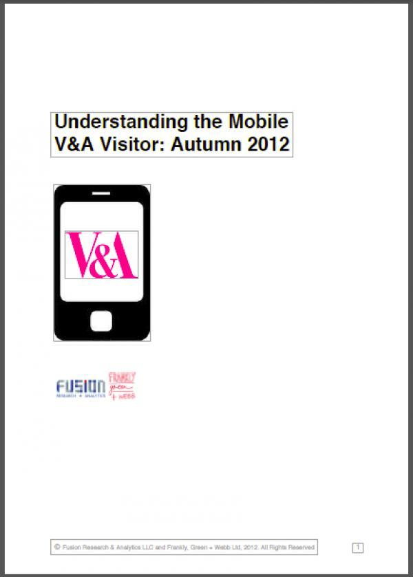 Cover for understanding the V&A Mobile Visitor