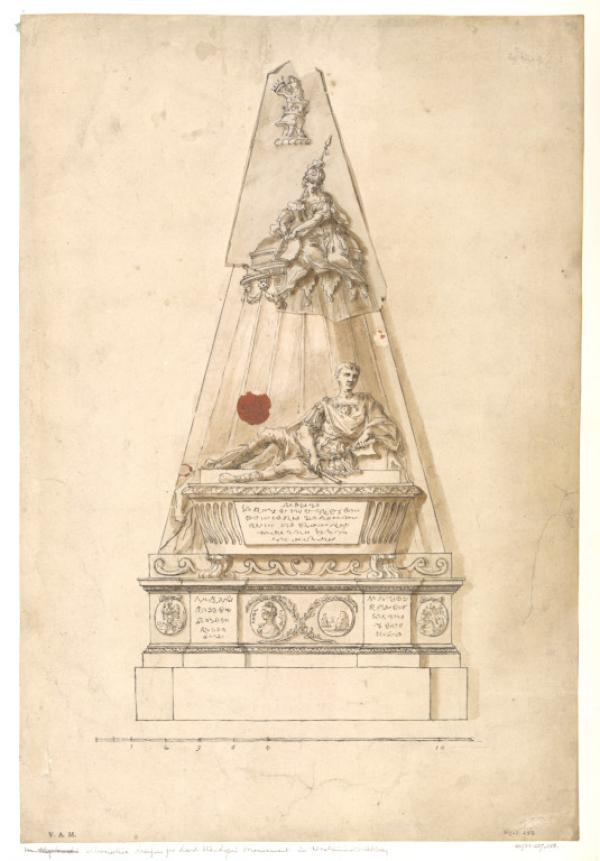 A design by William Kent for a monument to James, 1st Earl Stanhope, 1733