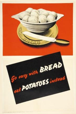 Poster depicting a bowl of potatoes