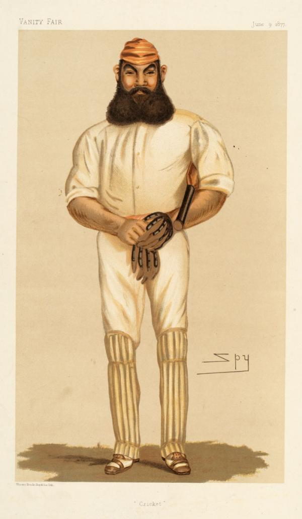 Portrait of W.G. Grace, print, Spy, 1877. Museum no. S.478-2010. © Victoria and Albert Museum, London