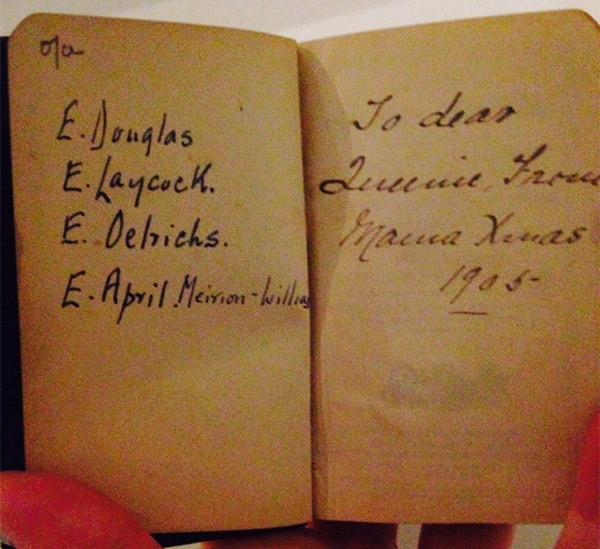 The front page of the prayer book April Olrich held at her wedding in 1963. © Victoria and Albert Museum, London