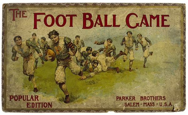 The Football Game, table game, Parker Bros., USA, 1900-1915. Museum no. MISC.82-1975.  Victoria and Albert Museum, London.