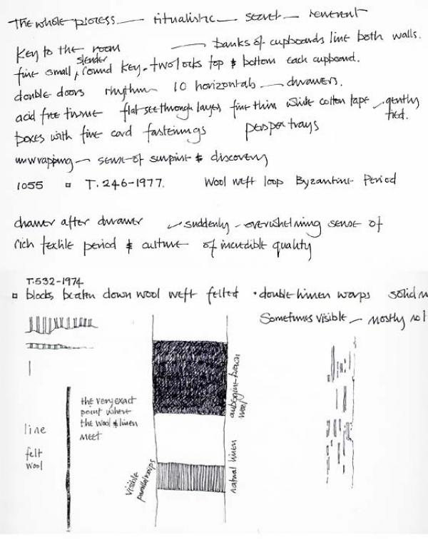 Sketchbook notes, room 110