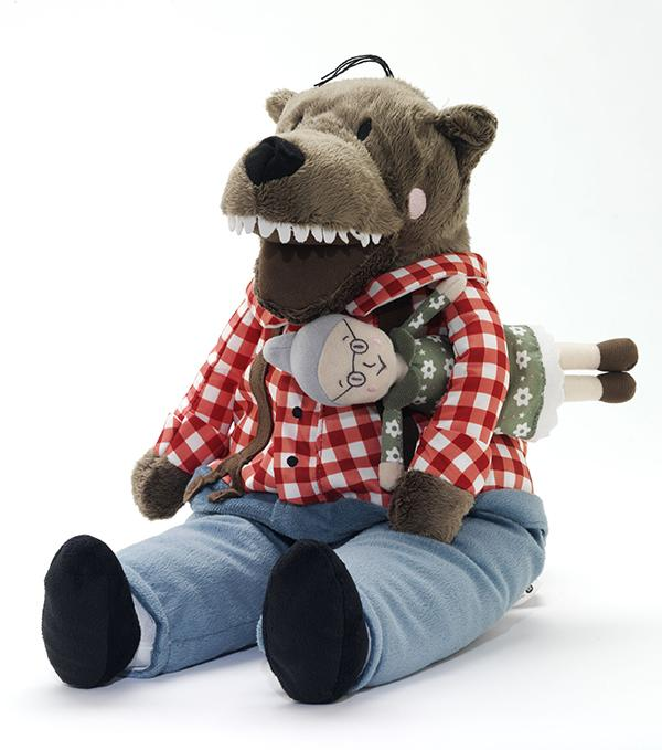Soft toy wolf Lufsig, designed for and manufactured by IKEA, 2013