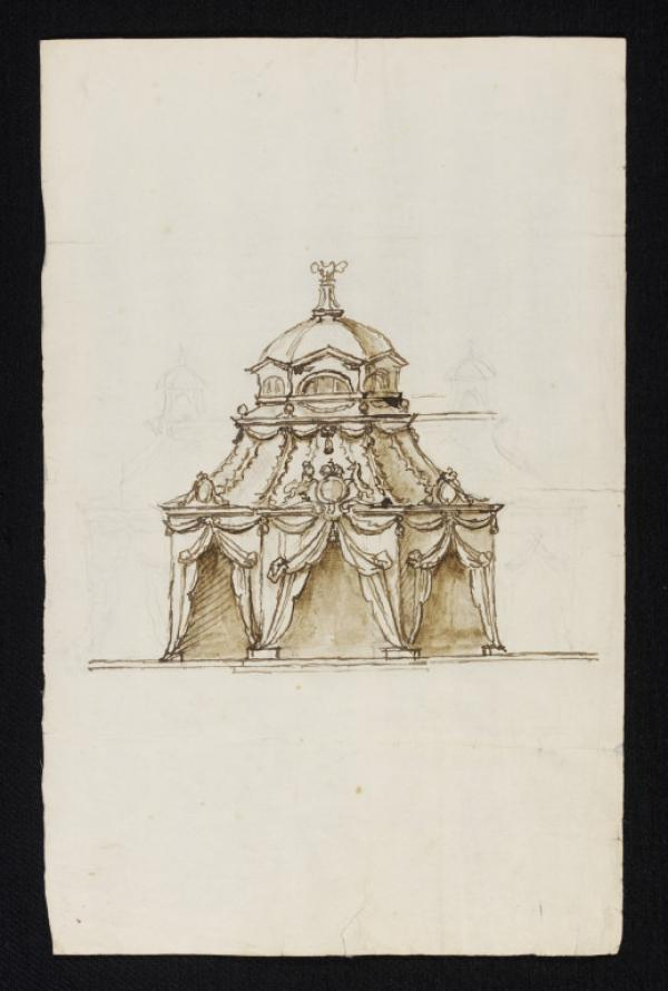 Design for a Royal tent by William Kent, ca.1730-35
