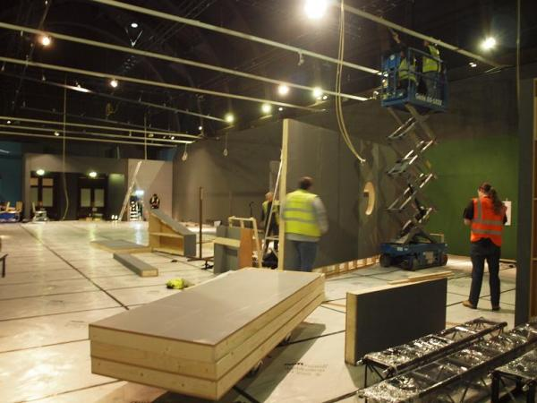 A view of the build for William Kent at the V&A.