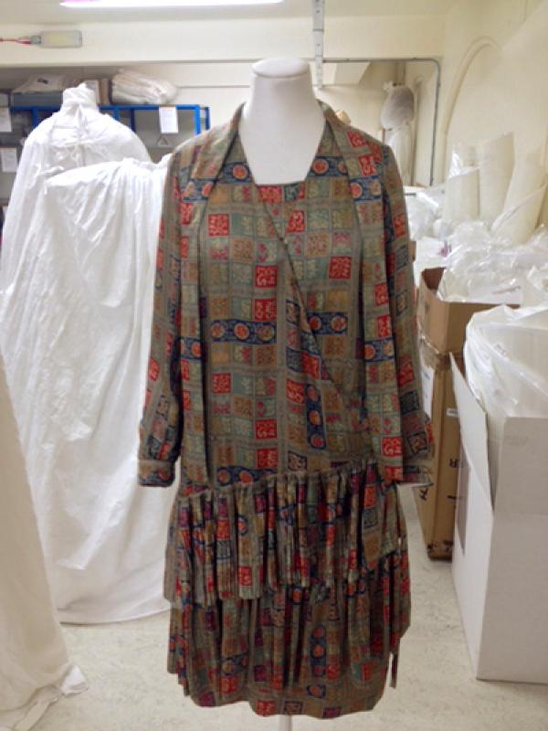 Marian Hazel Lasenby wore this dress by Liberty & co. for her wedding to William Moorcroft in 1928