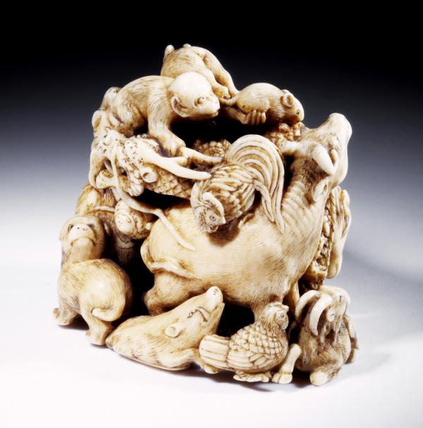 Netsuke, Ipposai, about 1825 - 1875. Musuem no. A.920-1910