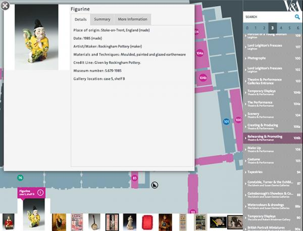 The V&A Digital Map. © Victoria and Albert Museum, London
