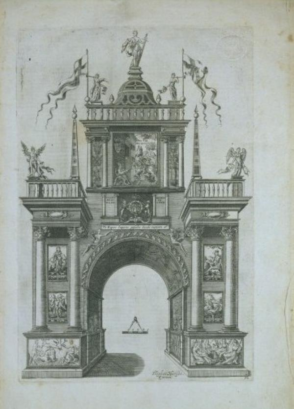 Figure 3. V&A 14010, William Kip after Stephen Harrison, The Arch of the Italian