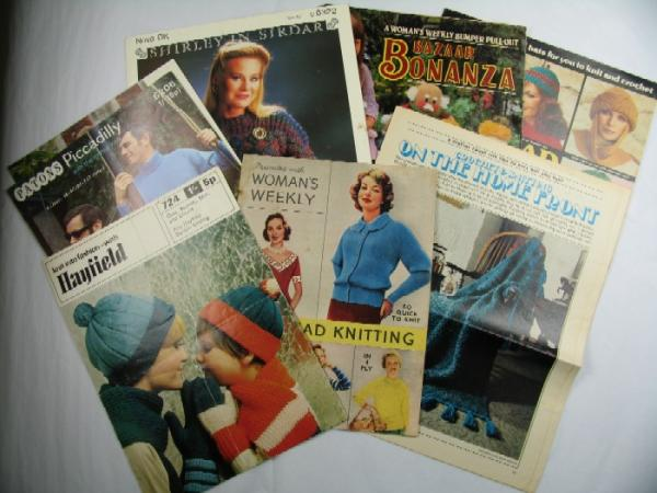 A variety of knitting ephemera
