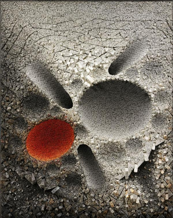 Aggregation10-SE032RED, Kwang-Young Chun, 2010. Museum no. FE.103-2013, © Victoria and Albert Museum, London