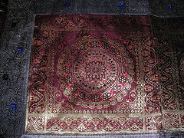 Sample of jacquard weaving