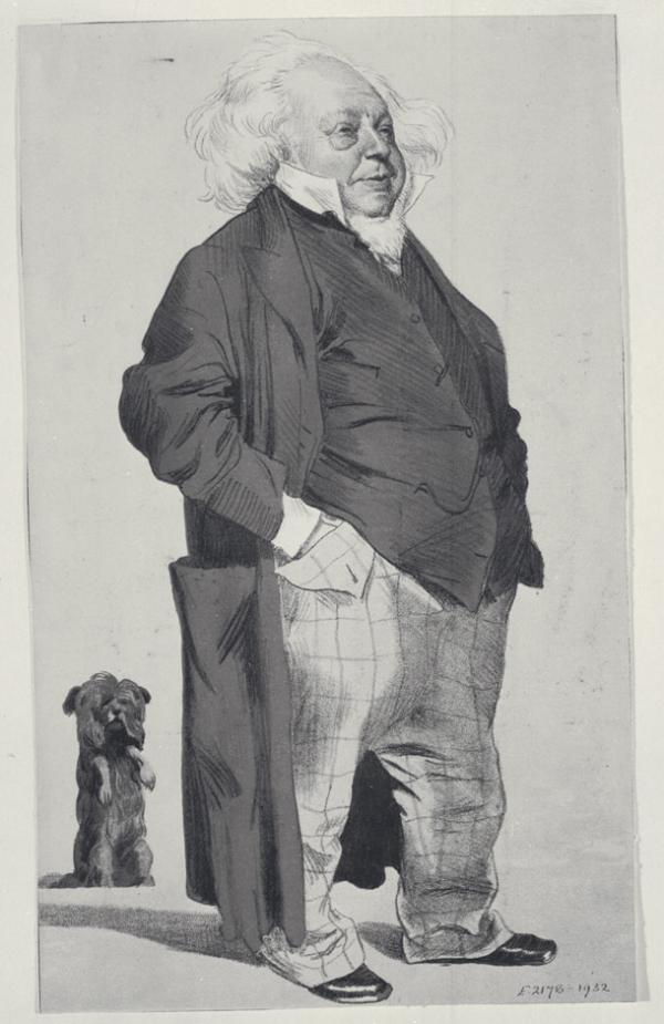 Henry Cole, cartoon printed in Vanity Fair, 1871. Museum no. E.2178-1932