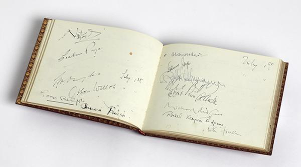 Notley Abbey Visitors' Book. © Victoria and Albert Museum, London.