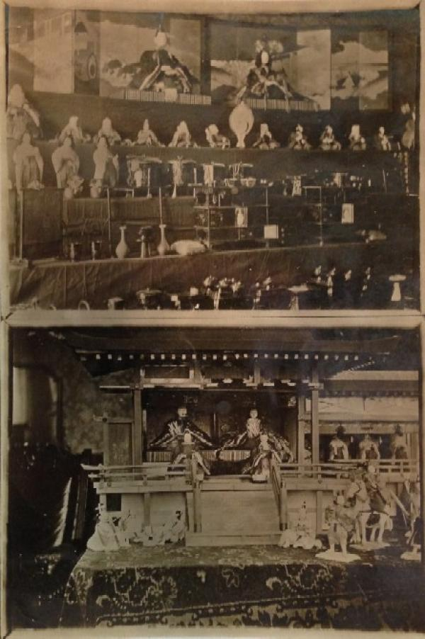 Photograph of Princess Mary's collection of Japanese dolls