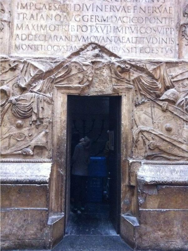 Door into Trajan's column