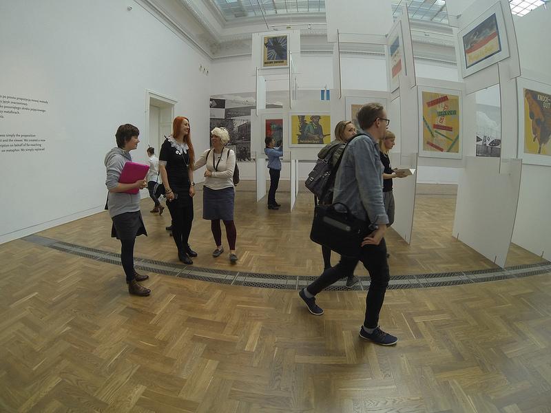 In the Zacheta National Gallery of Art enjoying 'I've been here; I hope the same for you. Henryk Tomaszewski'