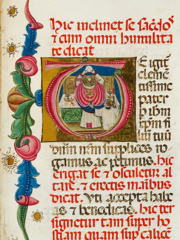 Celebration of Mass in Missal, ca. 1480. Museum no. MSL/1902/1701. © Victoria & Albert Museum