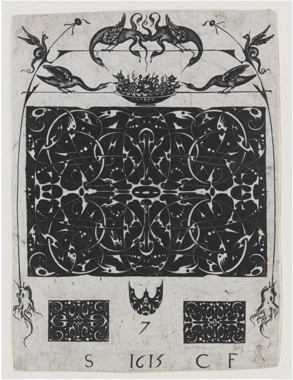 A French moresque design for Goldsmiths from 1615