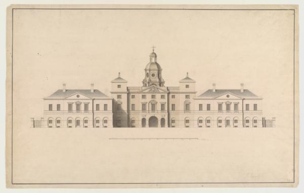 Elevation of the Horse Guards Facade, built by John Vardy to a design by William Kent