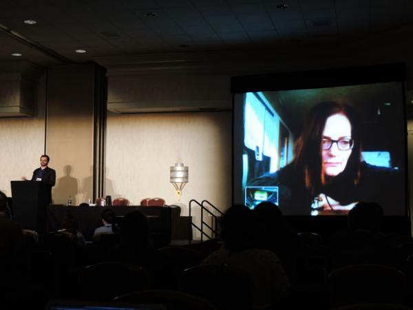 Diane Borger from Punchdrunk Theatre live via video link at Museums and the Web 2013