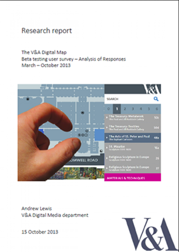 V&A report - user feedback analysis of digital map