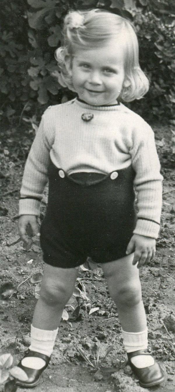 Ian as a little girl! About 1943, Cape Town. © Ian Rakoff