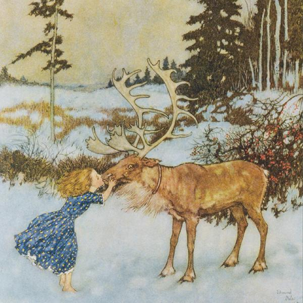 V&A Christmas Cards - Gerda and the Reindeer - Created exclusively for the V&A