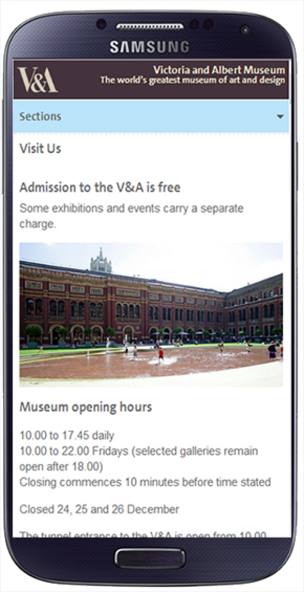 V&A visitor information