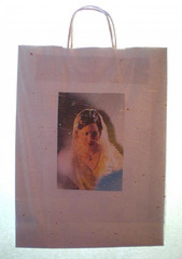 Bridal carrier bag, back, Anjana Patel, 2009
