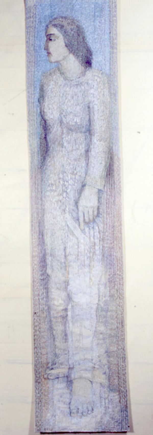 Lot's Wife, embroidery, 2007, Audrey Walker. Museum number T.22-2007
