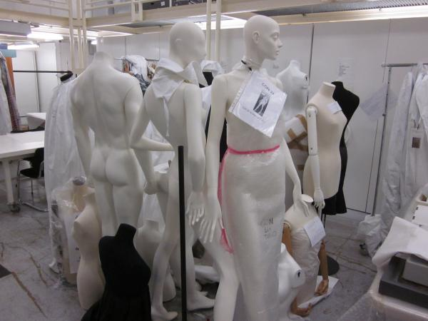 A selection of mannequins in North Court Store