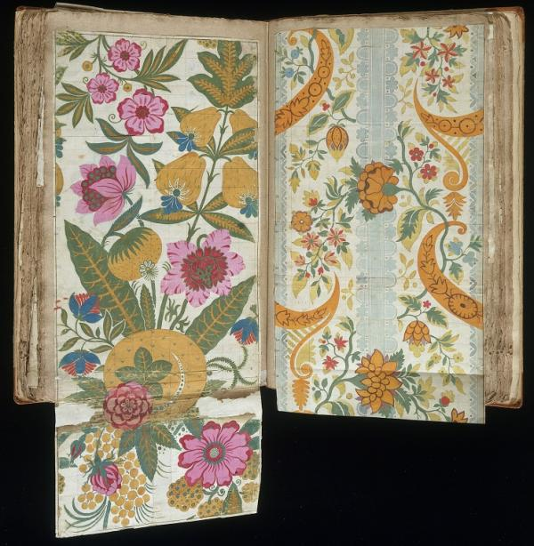 Design for woven silk from the 'Leman Album', James Leman, 1706-1707. Museum no. E.1861:33-1991. © Victoria and Albert Museum, London.
