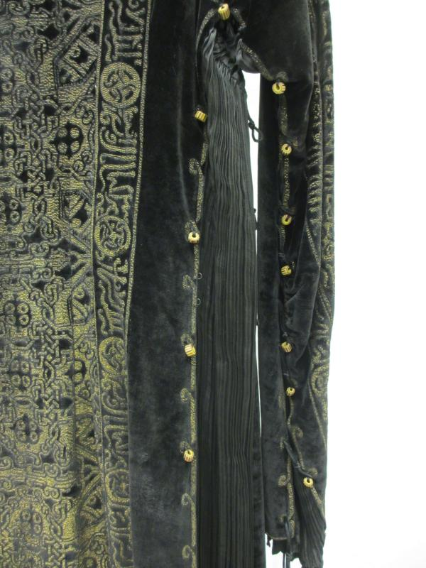 Detail of T.287-1978, dress by Mariano Fortuny, 1920-29