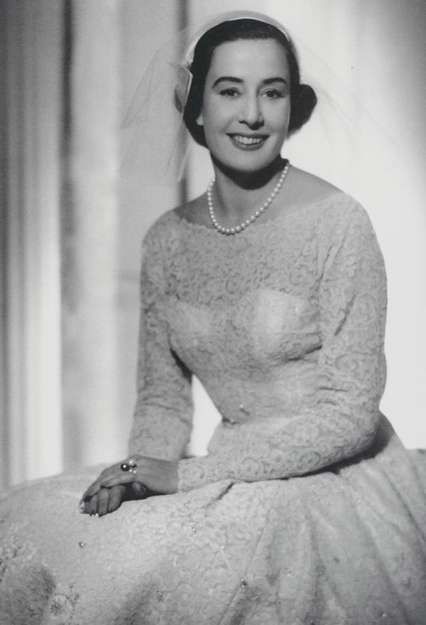 Photograph of Laurel on her wedding day in 1957. © Victoria and Albert Museum, London/Mrs Laurel Robinson