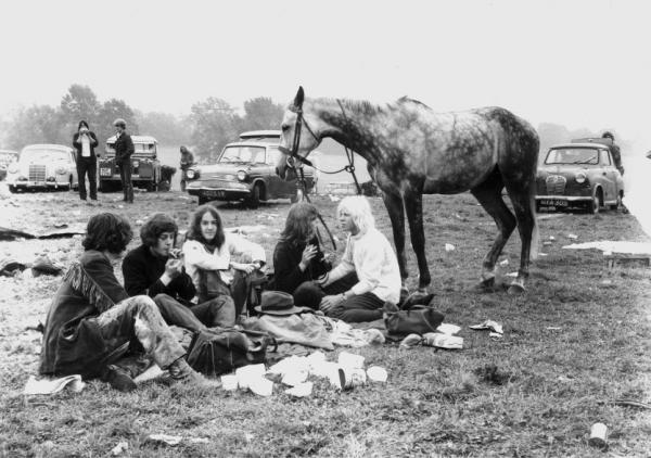 Hippies and their horse at the first festival, 1970, © Glastonbury Festival