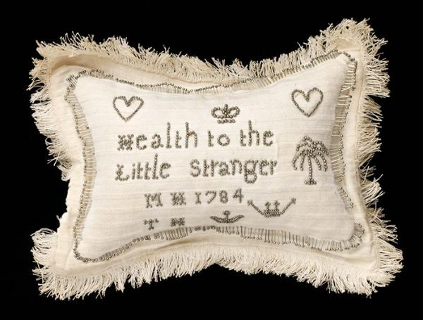 Layette pincushion, unknown maker, 1784. Museum no. B.3-2009. © Victoria and Albert Museum, London
