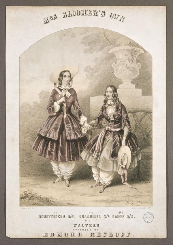Music sheet cover featuring two women