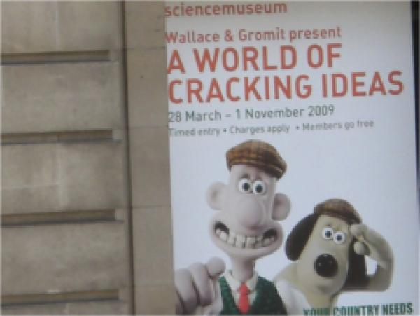 Science Museum poster for Wallace and Gromit exhibition