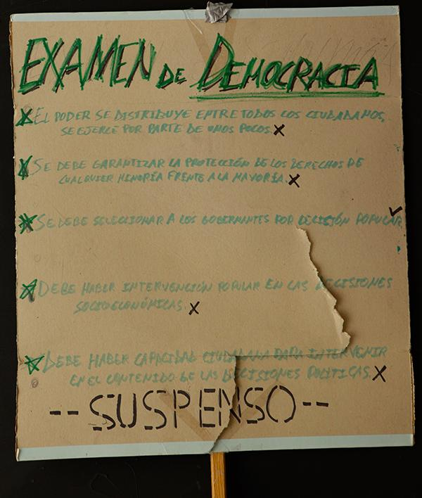 """DEMOCRACY EXAM – FAILED"". Archivo 15M. CC"