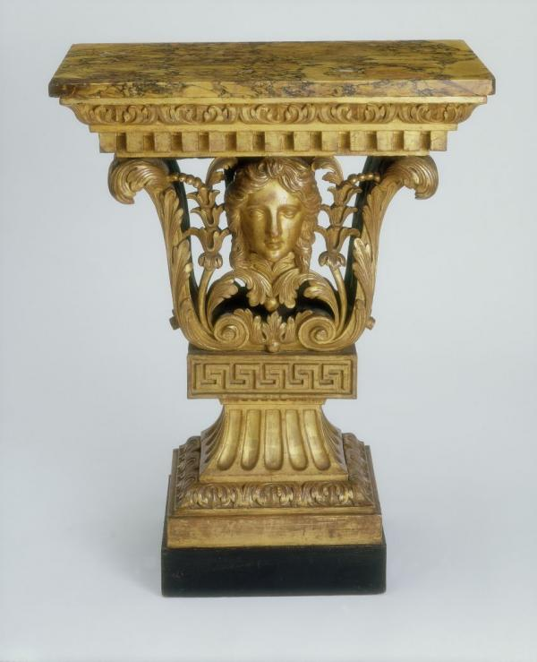Giltwood console table designed by William Kent, c.1730