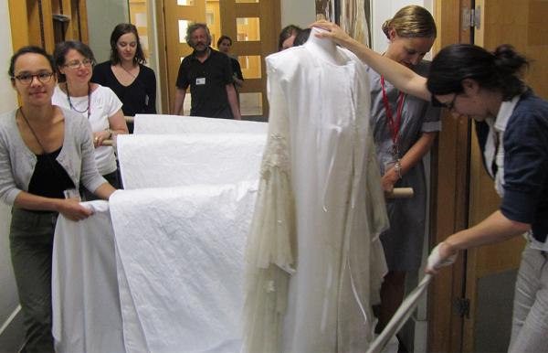 How many bridesmaids does it take to move a dress? © Victoria and Albert Museum, London