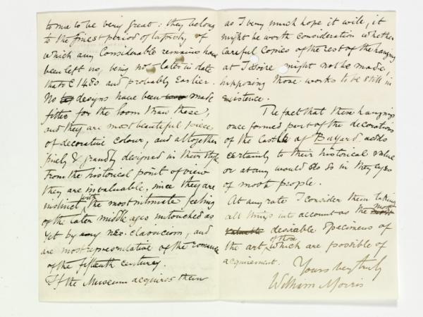 William Morris letter