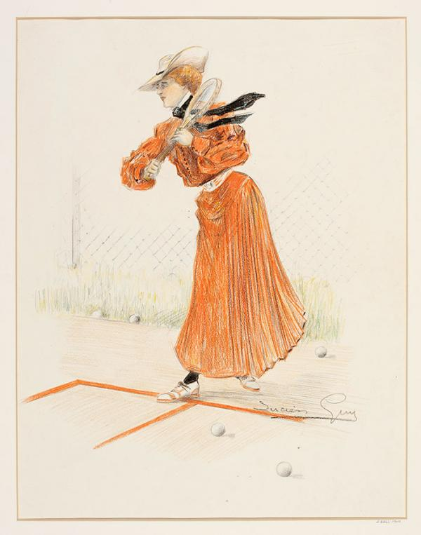 Fashion drawing, Lucien Guy, 1903 - 1905. Museum no. E.2266-1948. © Victoria and Albert Museum, London