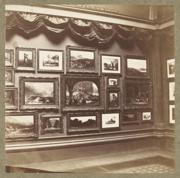 Photograph of the Ellison Gallery of watercolours
