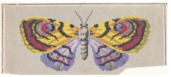 Berlin woolwork butterfly