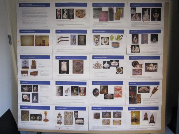 Example boards from a pin-up of the Rococo display